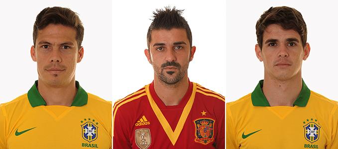 Hernanes/David Villa/Oscar