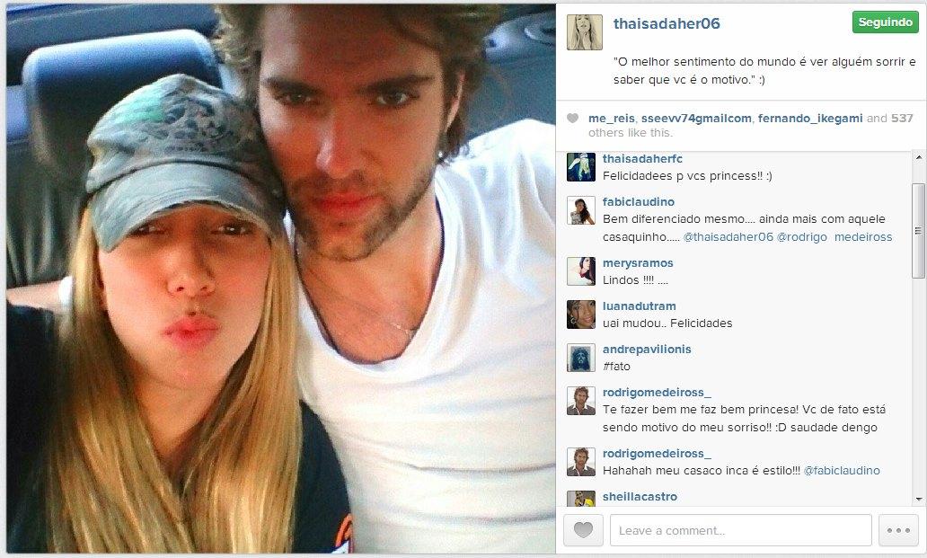 Thaísa usa fotos românticas para divulgar namoro com ator - Esporte