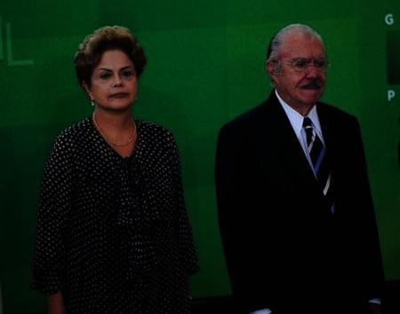 Dilma e Sarney - Eles têm conversado sobre PMDB. Foto: ABr
