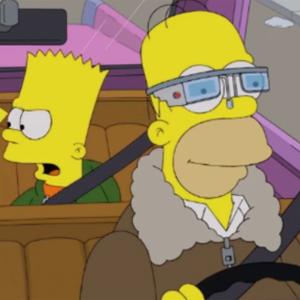 Homer fica viciado, usando os óculos para tudo