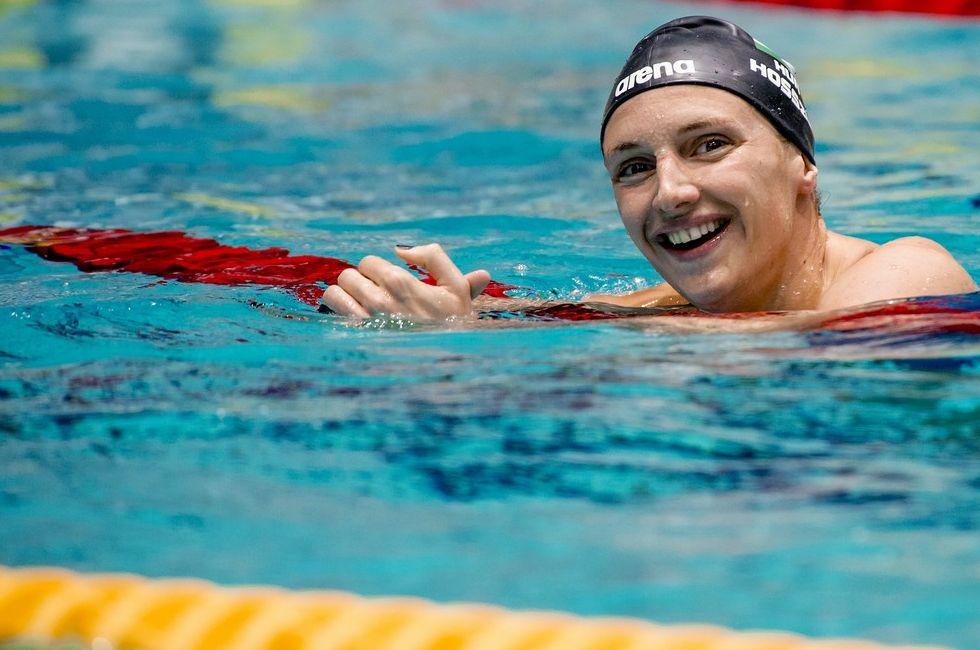 Katinka Hosszu: como sempre, a húngara marca presença no campeonato