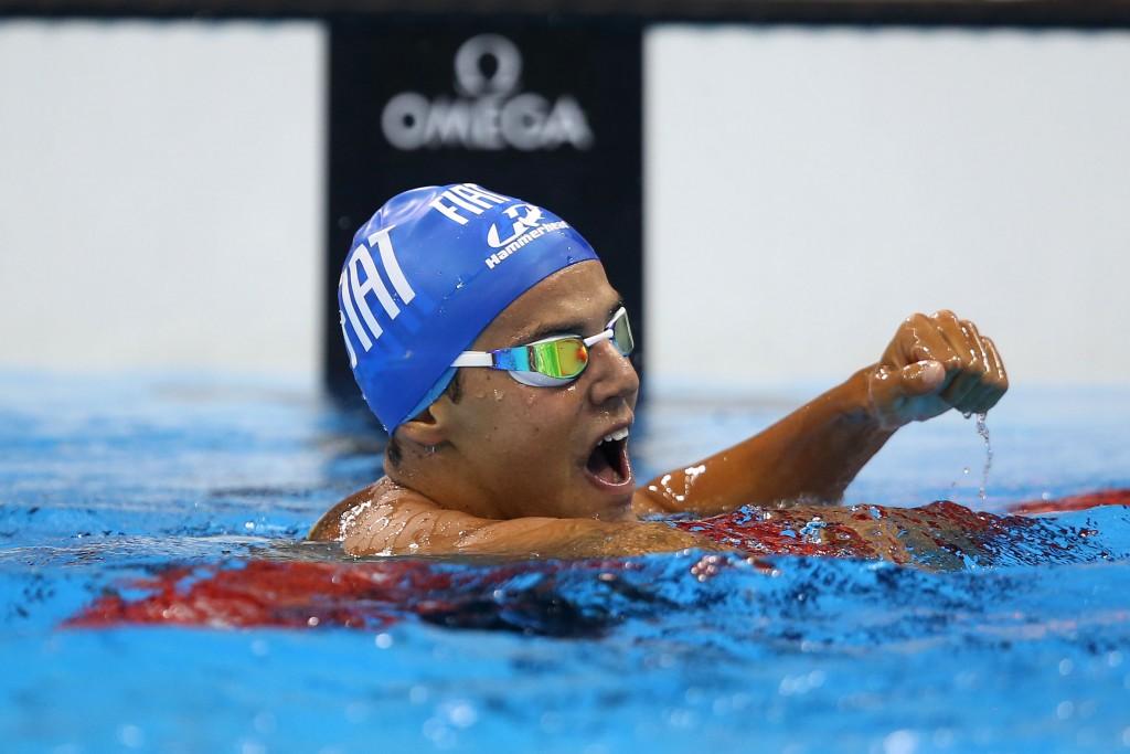 Miguel Valente comemora o índice olímpico - Foto: Satiro Sodré/ SSPress