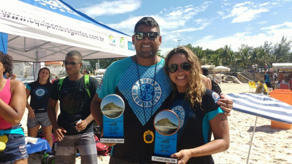 Patrícia e o técnico Renato Ribeiro - Foto: Arquivo pessoal