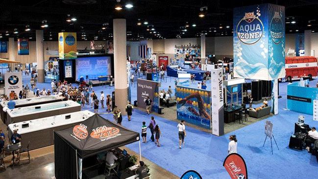 O Aqua Zone é um ambiente para fãs curtirem com a família - Foto: USA Swimming