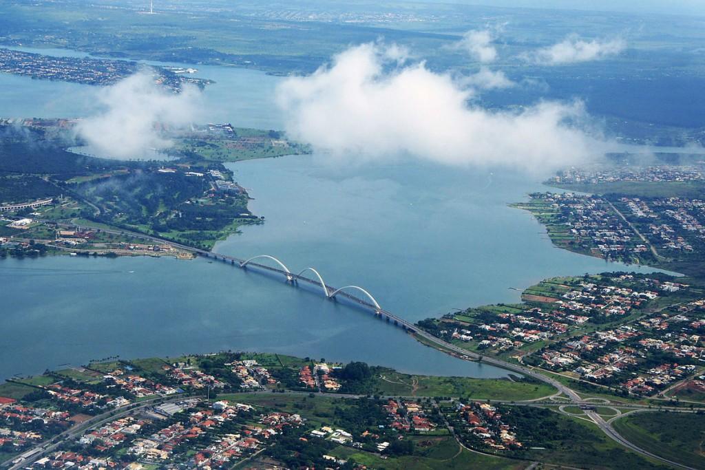 Vista área do Lago Paranoá - Foto: Reprodução/Internet