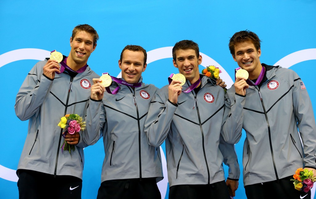 O quarteto campeão em Londres-2012 - Foto: Al Bello/Getty Images