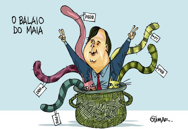 Resultado de imagem para rodrigo maia charges