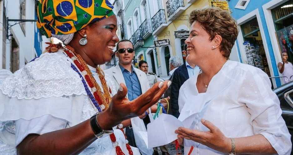 Dilma na Bahia, em 2014 - Foto Ichiro Guerra/Divulgação