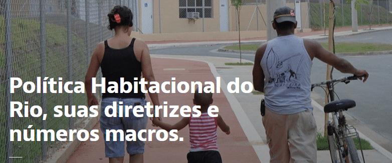 Detalhe do site da Prefeitura do Rio dedicado à política habitacional