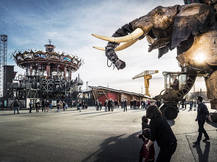 Foto: Les Machines de l'ile, parc des Chantiers, Nantes © Franck Tomps / LVAN