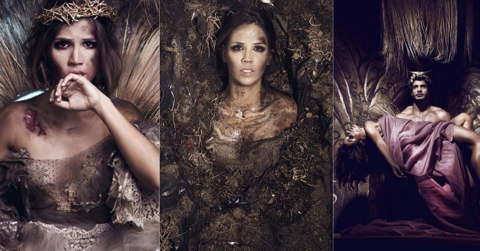 10.jun.2013 - A atriz Pérola Faria posa para um ensaio que será exibido na exposição