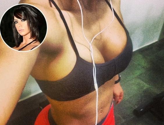 14.jul.2013 - Viciada em malhação, a modelo Graciella Carvalho não dá folga à rotina de exercícios nem no fim de semana.