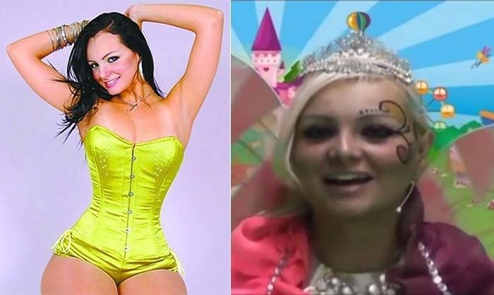 11.set.2013 - A modelo Suelem Aline Mendes da Silva, cujo nome artístico até então era Mulher Pêra, agora comanda um programa infantil intitulado