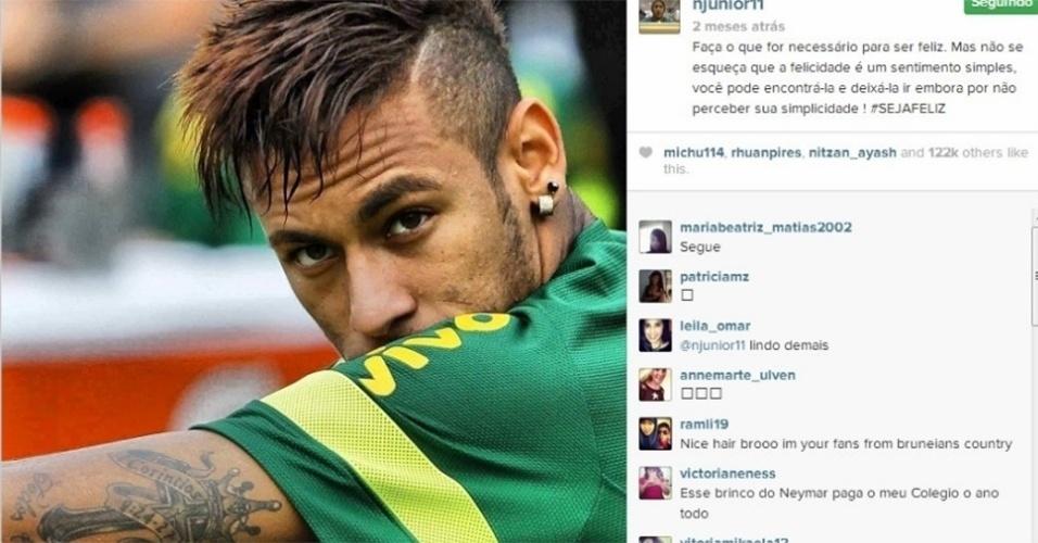 Neymar tatuou uma citação da Bíblia no braço