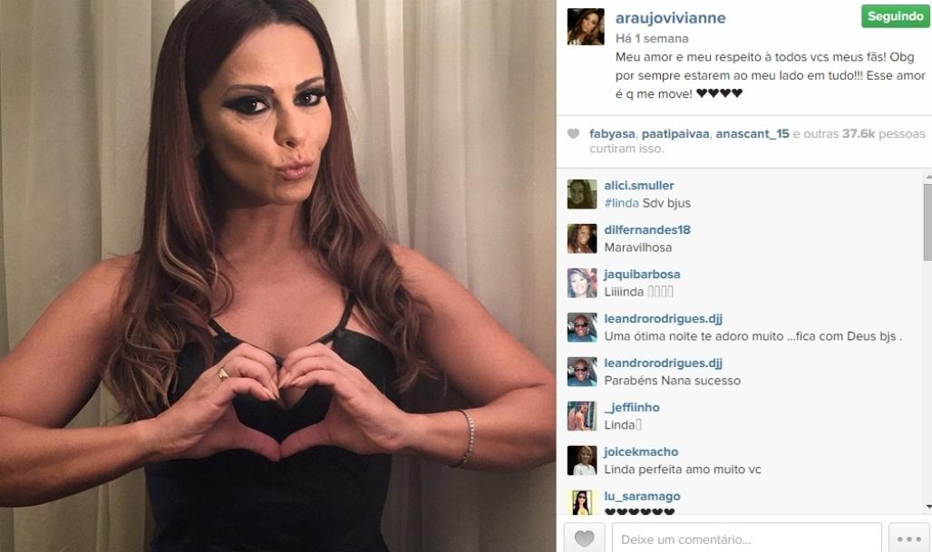 25.mar.2015 - Viviane Araújo está fazendo aniversário nesta quarta-feira. A musa do Carnaval que conquistou o Brasil no papel de Naná na novela