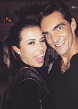 Maria Luiza Daudt e Giba em foto no Instagram