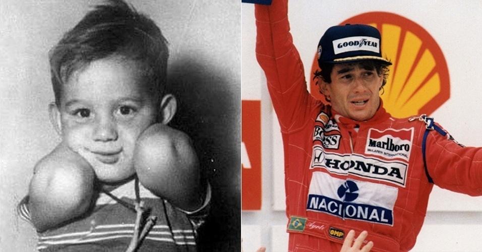 27.jul.2015 - Imagem mostra o antes e o depois do piloto Ayrton Senna