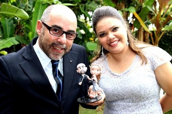 """""""Foi um momento mágico. Após quatro anos juntos oficializamos nossa união"""", conta Aldrey Kelly de Oliveira ao falar sobre o casamento com Agnaldo Villaça de Oliveira. A cerimônia deles aconteceu em Atibaia (SP) no dia 3 de abril de 2013."""