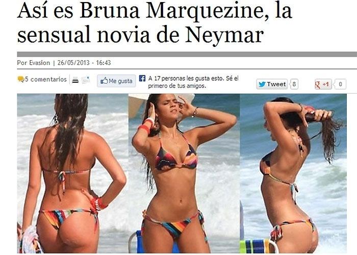 28.mai.2013 - Após Neymar fechar contrato com o Barcelona, a imprensa espanhola começou a estampar diariamente matérias falando sobre a vida do craque