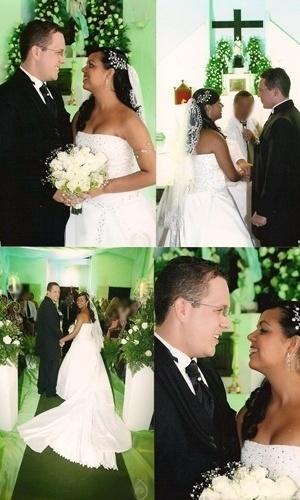 Bruno Costa Rosa de Oliveira e Karem Joice de Castro Mendonça Oliveira são de Itabaiana (SE). No dia 20 de dezembro de 2007 eles se casaram e o noivo se recorda: ?naquele dia que unimos nosso amor para toda a vida!?.
