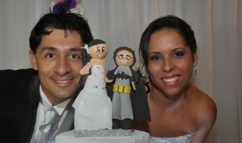 De Santos, Fábio Gomes e Ingrid Borges casaram-se em 19 de maio de 2012.