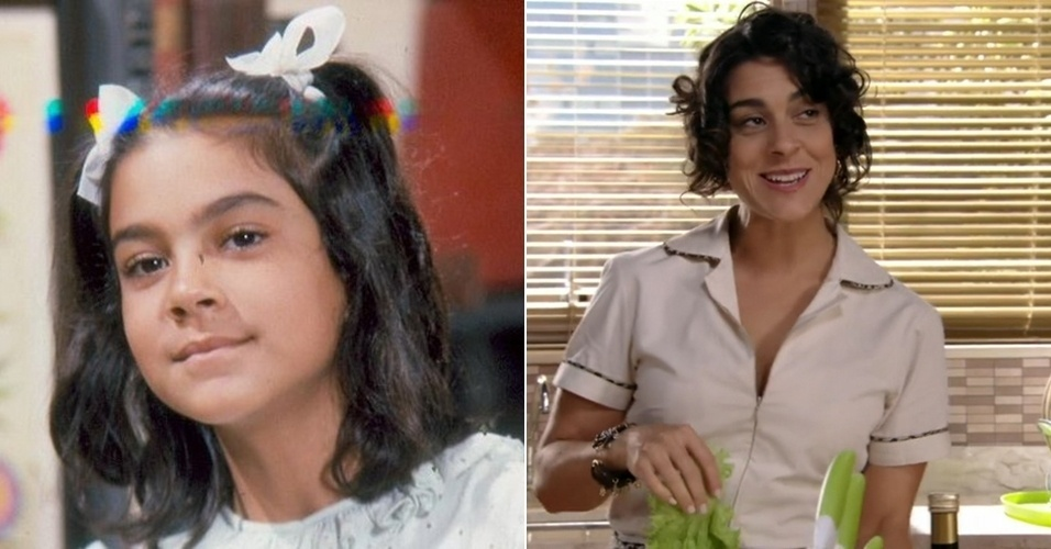 """19.jun.13 - Aos 40 anos, a atriz Izabella Bicalho, que interpretou a personagem Narizinho na versão para televisão de """"Sítio do Picapau Amarelo"""" do início dos anos 80, reapareceu no papel da sexy e divertida empregada Nice, de """"Sangue Bom"""". """"Estou achando ótimo esse lado sensual que surgiu. Não sou de fazer carão, mas gosto de me montar e fazer ensaios deste tipo"""", contou a atriz, em entrevista ao jornal Extra. Ela garantiu que na vida real é bem diferente da personagem."""