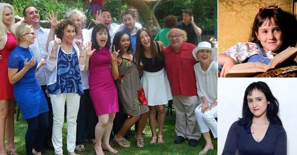 """2.jul.2013 - A atriz Mara Wilson, estrela do filme """"Matilda"""" (1996), matou a saudade dos fãs do longa e divulgou uma foto com o elenco do sucesso norte-americano dos anos 90"""