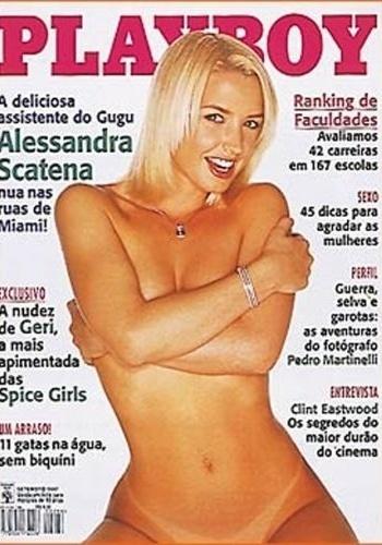 """Em setembro de 1997, Alessandra Scatena foi capa da revista """"Playboy"""""""