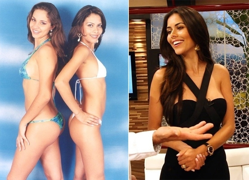 """1º.set.2013 - Daniela Albuquerque decidiu revirar o baú neste fim de semana. Além de postar foto dos tempos em que trabalhava como camelô, a apresentadora (à dir) divulgou uma imagem de início de carreira de modelo. """"Kkkkkk olha isso!""""(sic), escreveu"""