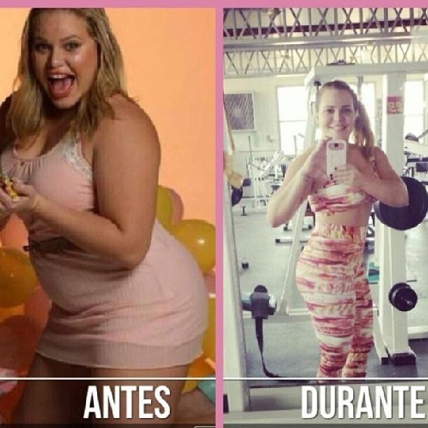 """5.set.2013 - A ex-BBB Paulinha Leite mostrou em seu Instagram um """"antes"""" e """"durante"""" para mostrar os resultados de seu processo de emagrecimento. """"A luta continua, firme e forte, rumo aos 60 quilos. Quando iniciei minha reeducação alimentar eu estava pesando 97 kg. Mas isso já faz parte de um passado. Hoje estou pesando 70 kg, meu objetivo é 60 kg. Já se foram 27,6 kg em cinco meses. Não foi fácil, eu sofri, eu chorei, eu desanimei, eu tive que mudar tudo, toda minha vida, mas essa foi minha escolha. Eu nunca fui de desistir de nada e não teria porque desistir justo agora"""""""