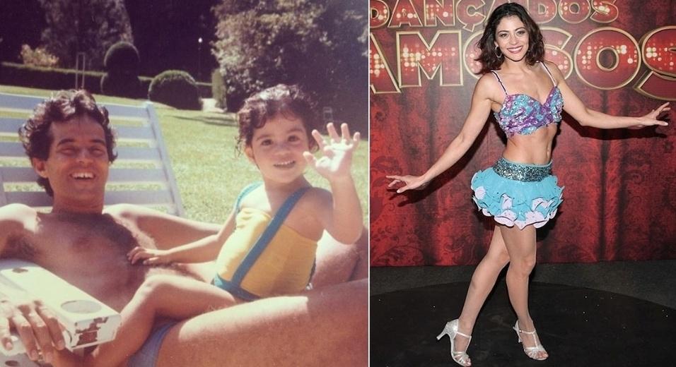 28.set.2013 - Carol Castro postou uma foto de quando era criança em homenagem ao aniversário de seu pai.