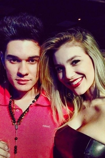 Photo of Luan Santana & his  Sister  Bruna Domingos Santana