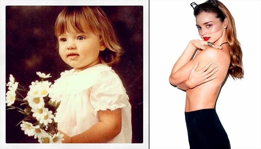 """12.dez.13 - A australiana Miranda Kerr revirou o baú de fotos antigas e divulgou uma imagem de quando era bebê apenas com a legenda """"#TBT"""". A tag é a sigla de """"Throwback Thursday"""", algo como """"Quinta-feira do retrocesso"""", um dia em que as pessoas normalmente aproveitam para relembrar e compartilhar bons momentos do passado nas redes sociais."""