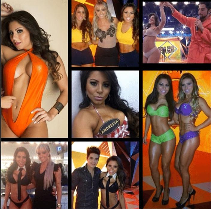 30.dez.2013 - Andressa Ferreira é assistente de palco do Legendários e já protagonizou diversos ensaios sensuais, inclusive foi capa da revista Sexy