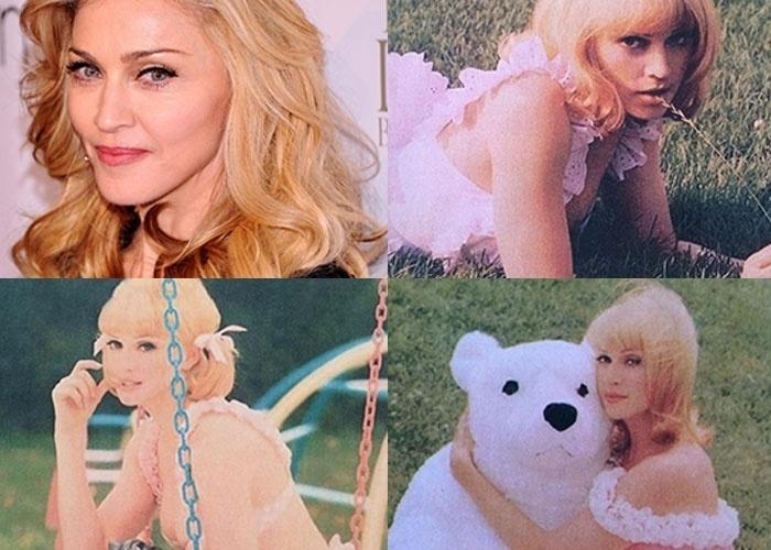24.fev.2014 - Riccardo Tisci, diretor-criativo da Givenchy, publicou em seu perfil no Instagram imagens pouco conhecidas de Madonna. Em algumas fotos, a cantora aparece quase irreconhecível e com ar angelical