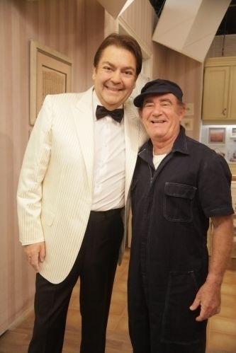 2011 - Faustão e Renato Aragão gravam especial de fim de ano para Globo em dezembro de 2011 TV Globo/ Rafael França