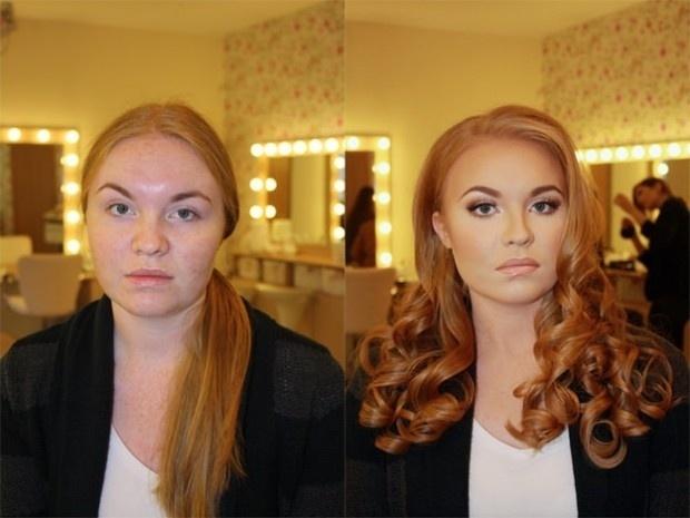 O maquiador russo Vadim Andreev também é famoso por tornar as pessoas praticamente irreconhecíveis após fazer seu trabalho