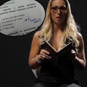 Valesca Popozuda foi citada como grande pensadora contemporânea em prova do DF