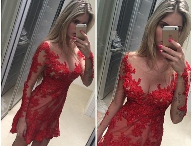 20.mai.2014 - Bárbara Evans arrancou elogios de seus seguidores ao postar uma foto usando um vestido decotado em sua conta no Instagram.