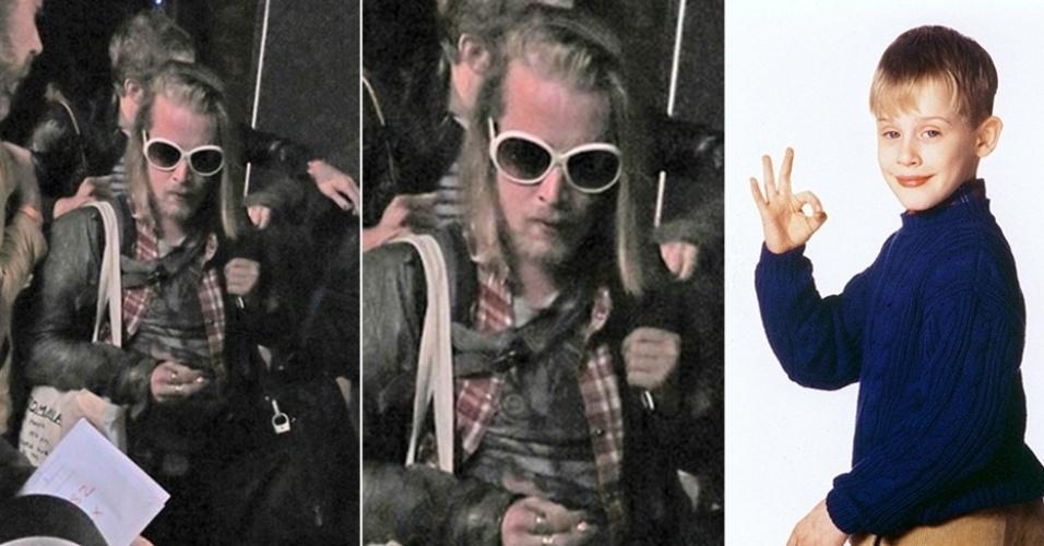 """27.mai.2014 - Macaulay Culkin, 33, cada vez menos lembra o garotinho fofo e de rosto angelical do filme """"Esqueceram de Mim"""" (dir.), de 1990. No último final de semana, Culkin surgiu com os cabelos e barba mais compridos na saída de um zoológico em Manchester, na Inglaterra. O ator, que também ficou conhecido por atuar em """"Meu Primeiro Amor"""" (1991) e """"Riquinho"""" (1994), costuma ser discreto e não frequenta lugares muito badalados. Atualmente, Culkin está voltado à carreira musical ao lado da banda Pizza Underground. No domingo (25), o ex-ator mirim deixou o palco durante uma apresentação na Inglaterra após ser atingido por copos de cerveja e ter recebido vaias do público"""