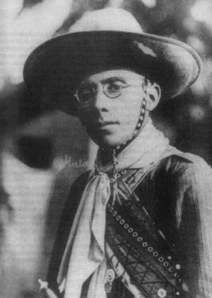 Virgulino Ferreira, conhecido como Lampião, o líder dos cangaceiros