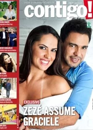 """Zezé Di Camargo e Graciele Lacerda aparecem na capa da revista """"Contigo!"""""""