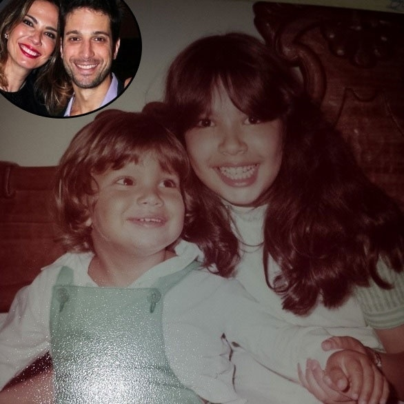 """6.jul.2014 - A garotinha da foto é Luciana Gimenez, que está ao lado do seu irmão, Marco Antônio. A foto foi postada pela mãe dos dois, Vera Gimenez, que escreveu na legenda: """"Meus tesouros""""."""