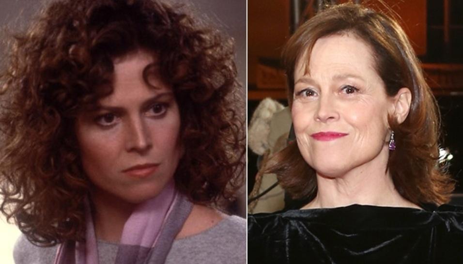 """9.jul.2014 - Sigourney Weaver - Em """"Os Caça-Fantasmas"""", a atriz interpreta uma violinista que se apaixona pelo personagem de Bill Murray. Estrela do sucesso """"Alien - O Oitavo Passageiro"""" (1979), Sigourney era uma espécie de musa dos filmes de ficção científica"""