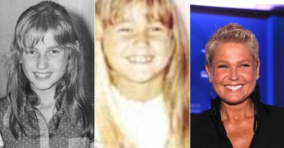 """17.jul.2014 - Xuxa postou fotos de quando era criança e chamou atenção dos fãs por sua semelhança com a filha Sasha. """"Olha eu com 9 anos"""", disse a apresentadora sobre a foto à esquerda. """"Um pouco antes de me mudar pro Rio"""", escreveu na legenda da foto do centro. """"Realmente muito parecida com Sasha"""", falou uma seguidora. """"Gente, a cara da Sasha!!!"""", disse outra"""