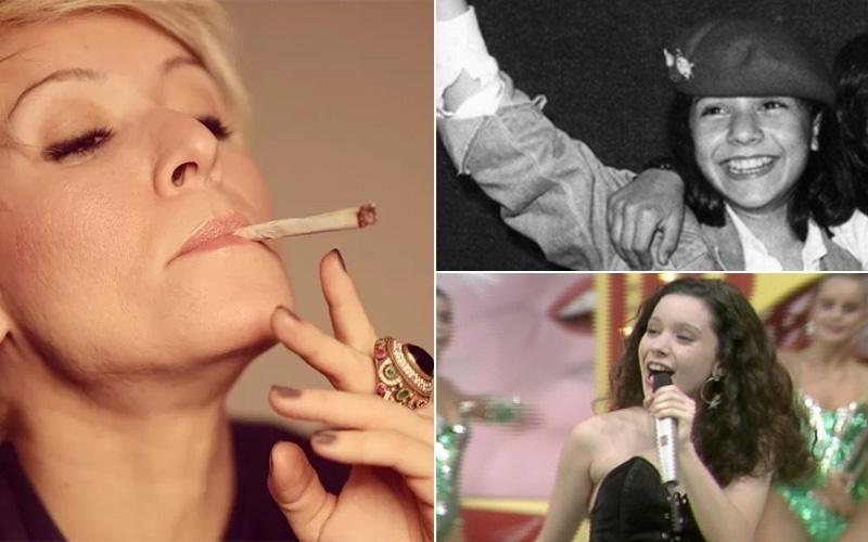 """31.jul.2014 - Patrícia Marx, 40, que fez sucesso ao lado do grupo musical Trem da Alegria, nos anos 80 e 90, postou no Instagram uma foto em que aparece fumando maconha. Para defender o uso da erva, a cantora escreveu um texto e recebeu elogios dos seguidores. """"Fumo porque me liberta. Fumo porque quero. Porque sou rebelde. Porque acho contraditório. Porque quero provocar vocês. Porque faz bem e não o mal que o cigarro faz. Porque provoca alegria"""", escreveu Patrícia. Os fãs apoiaram a atitude da cantora de sucessos como """"Espelho d'água"""" e """"Quando chove"""", mas Patrícia excluiu a foto da rede social. Na imagem em preto e branco, Patrícia na época do Trem da Alegria; abaixo, a cantora durante apresentação no """"Cassino do Chacrinha"""", na década de 80."""