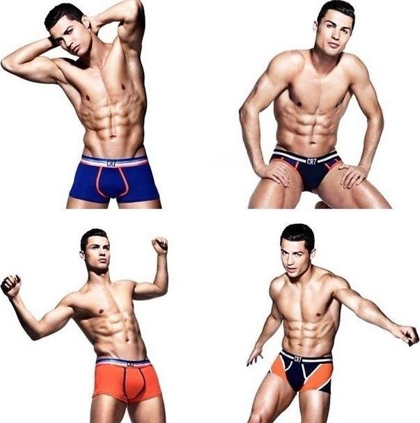 4.ago.2014 - Além do vídeo no Youtube, Cristiano Ronaldo aproveitou para divulgar em seu Instagram uma foto colorida das cuecas de sua coleção. E aí, aprovou os modelos?