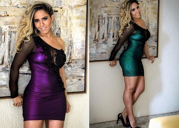 17.set.2014 - Renata Frisson, a Mulher Melão, estrelou ensaio de moda para uma grife do Rio de Janeiro. Nas imagens, a funkeira posa com vestidos