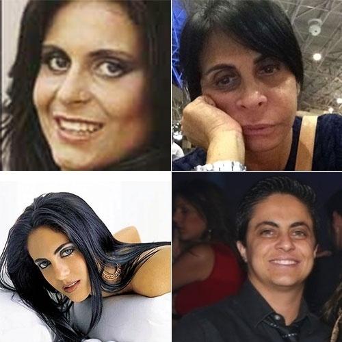 25.set.2014 - Assim como a mãe, Gretchen (acima), Thammy (abaixo) também mudou bastante ao longo do tempo. A mãe aparece na década de 80 em imagem à esquerda e em foto do ano passado à direita. Já a filha aparece em foto de 2003 à esquerda e em imagem de 2014 à direita. Bem diferentes, não é mesmo?