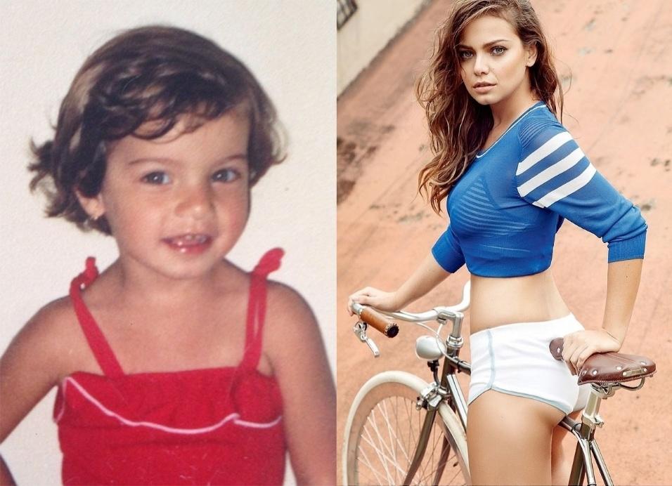 """9.out.2014 - Milena Toscano aparece fazendo pose de modelo e bastante sorridente em uma foto de infância. A atriz, que completou 30 anos em janeiro, postou a imagem de quando era pequena no Instagram. """"Fundo do baú. Mini me"""", escreveu na legenda"""